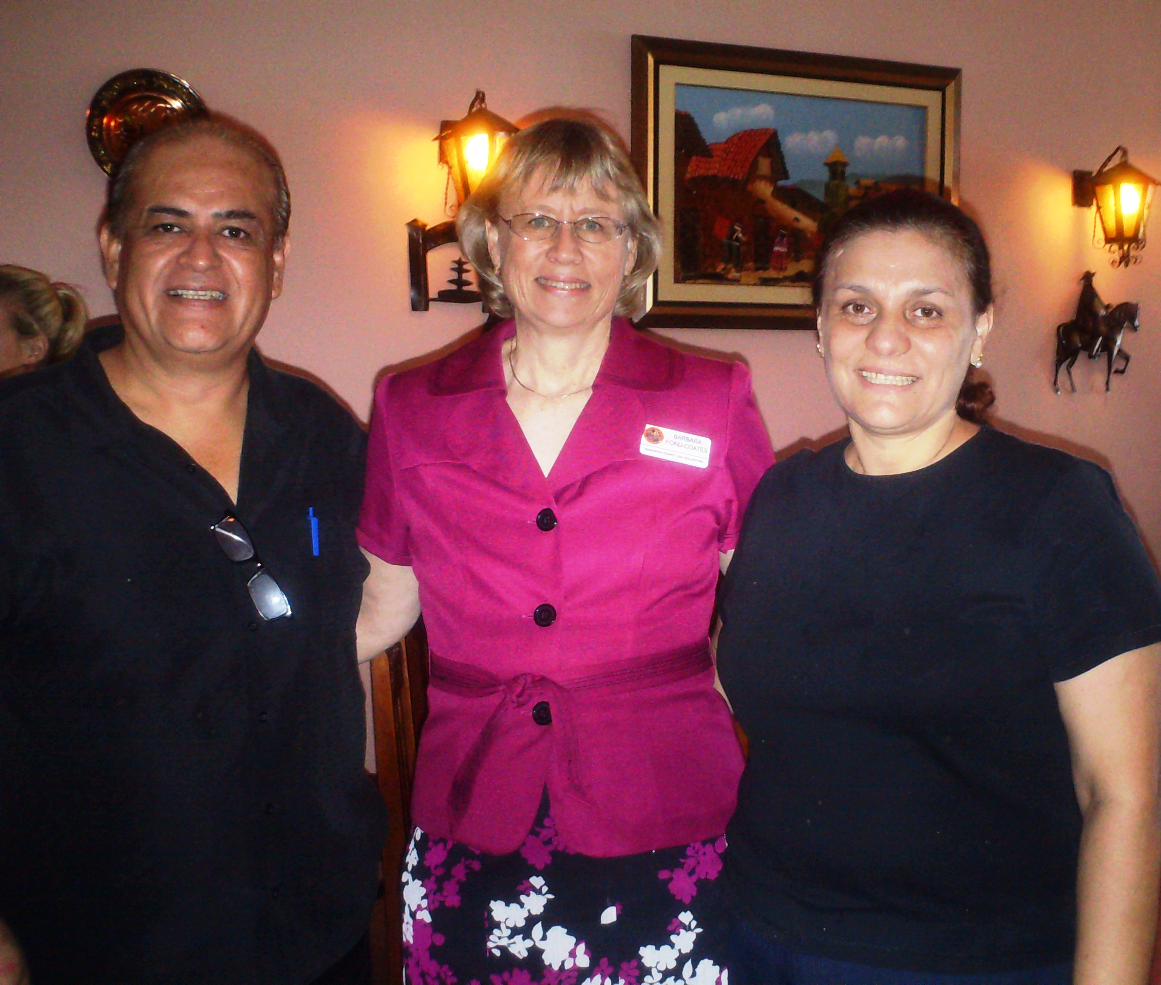 Latin Chamber Power Lunch, El Patio Latino. Left: Barbara Pictured With  Luis Regalado U0026 Cesar Gomez. Right: Barbara Pictured With Owners Of El  Patio Latino.